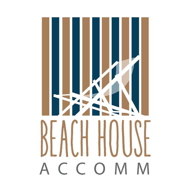 Beach House Accommodation Rentals logo design
