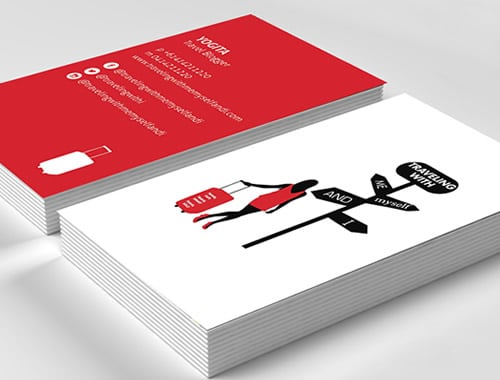 Budget travel blog business card printing