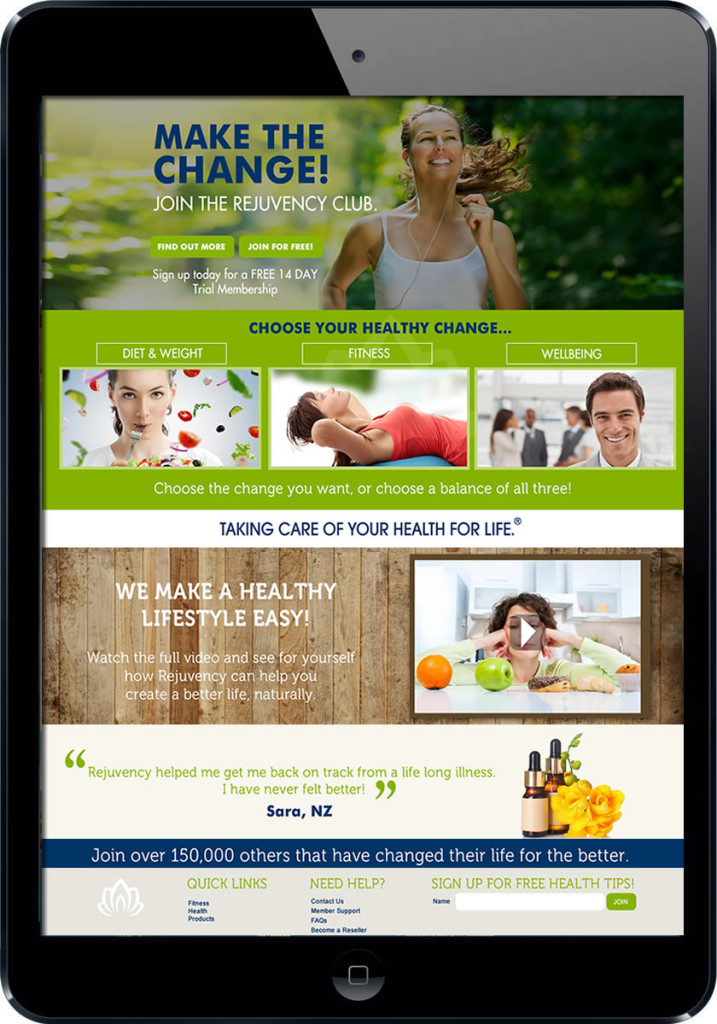 Health Website design Sunshine Coast