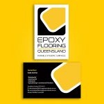 Epoxy Flooring business cards design and printing