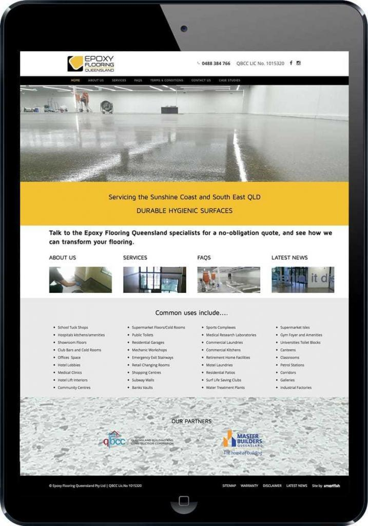 Epoxy Flooring website design