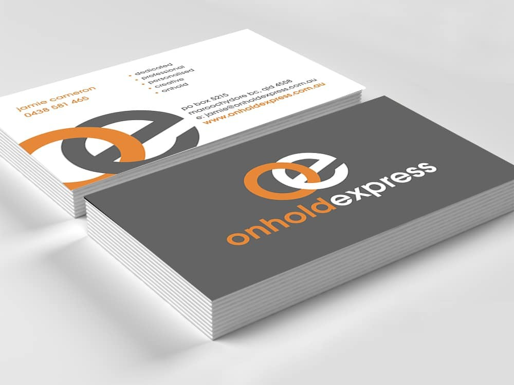 Onhold express business cards business card printing australia onhold express business cards reheart Gallery