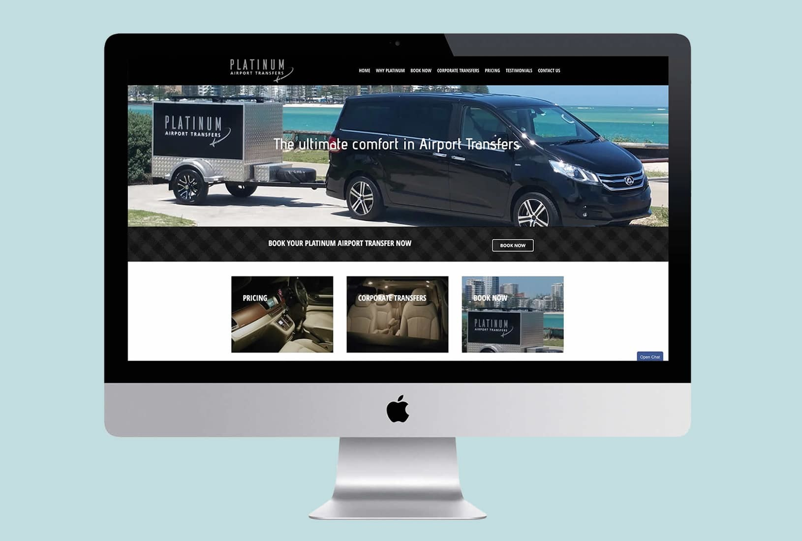 Airport Transfer website design