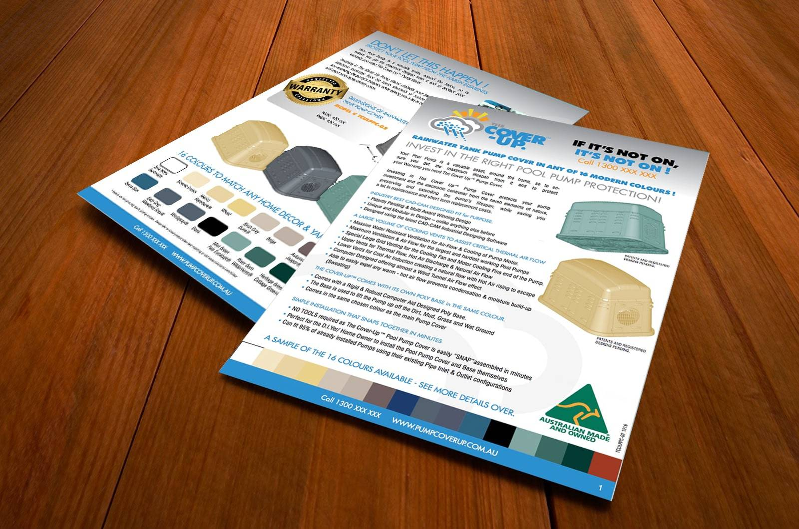 Brochure graphic design services for the Cover Up.