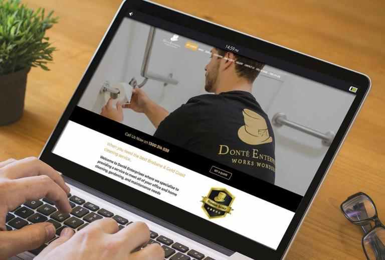 Brisbane & Gold Coast Cleaning services web design