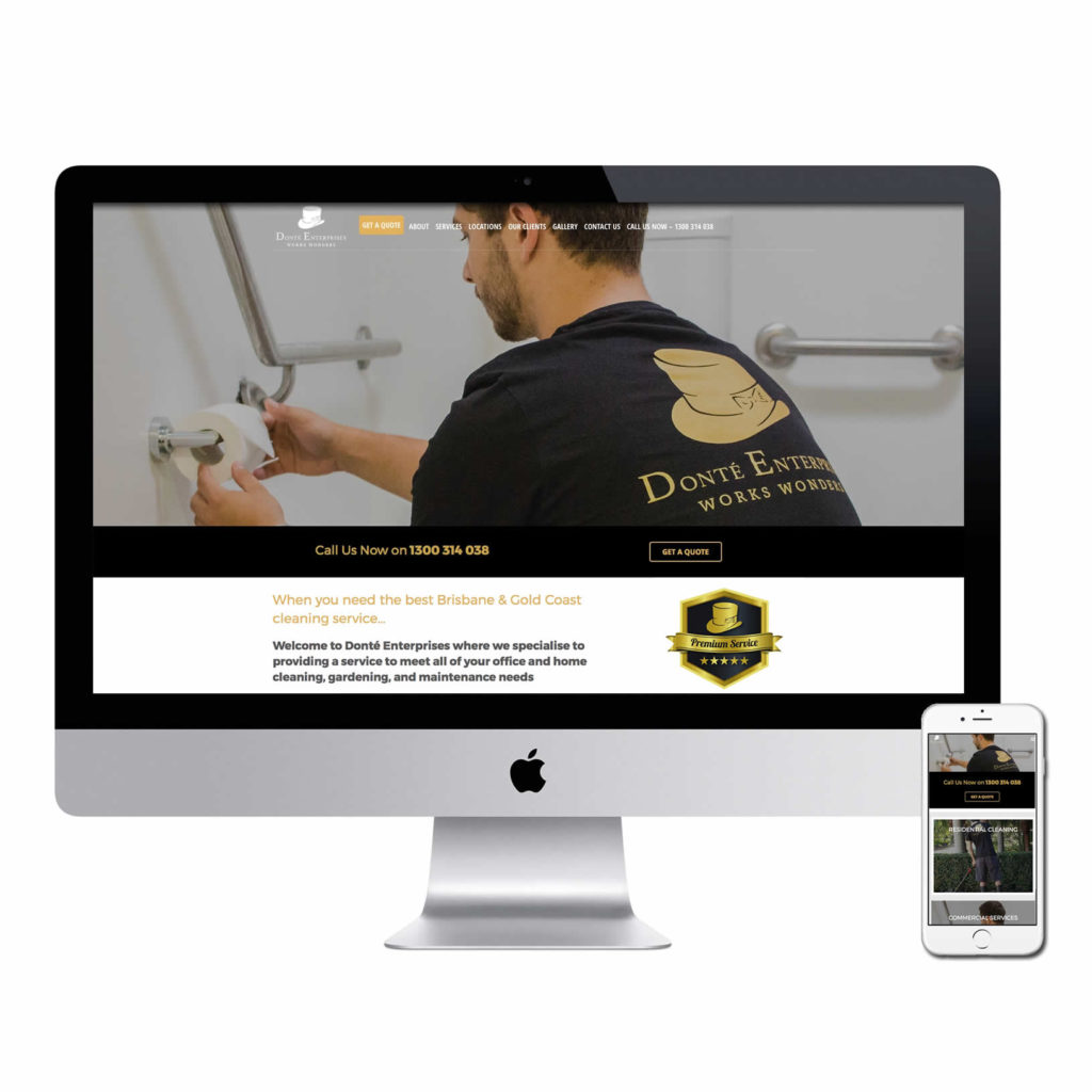Gold Coast Cleaning website design