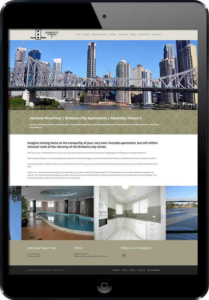 Brisbane residential Apartments website design