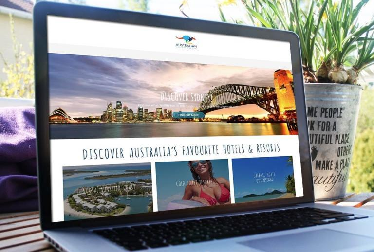 Australian holiday resorts website design