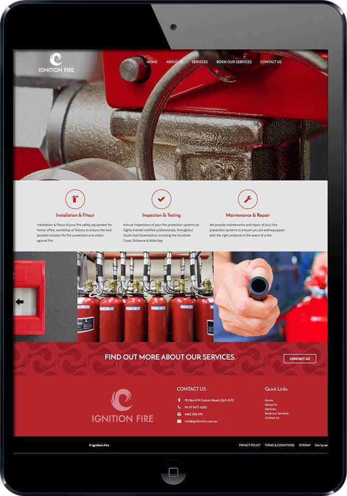 Ignition Fire Supplies Website Design