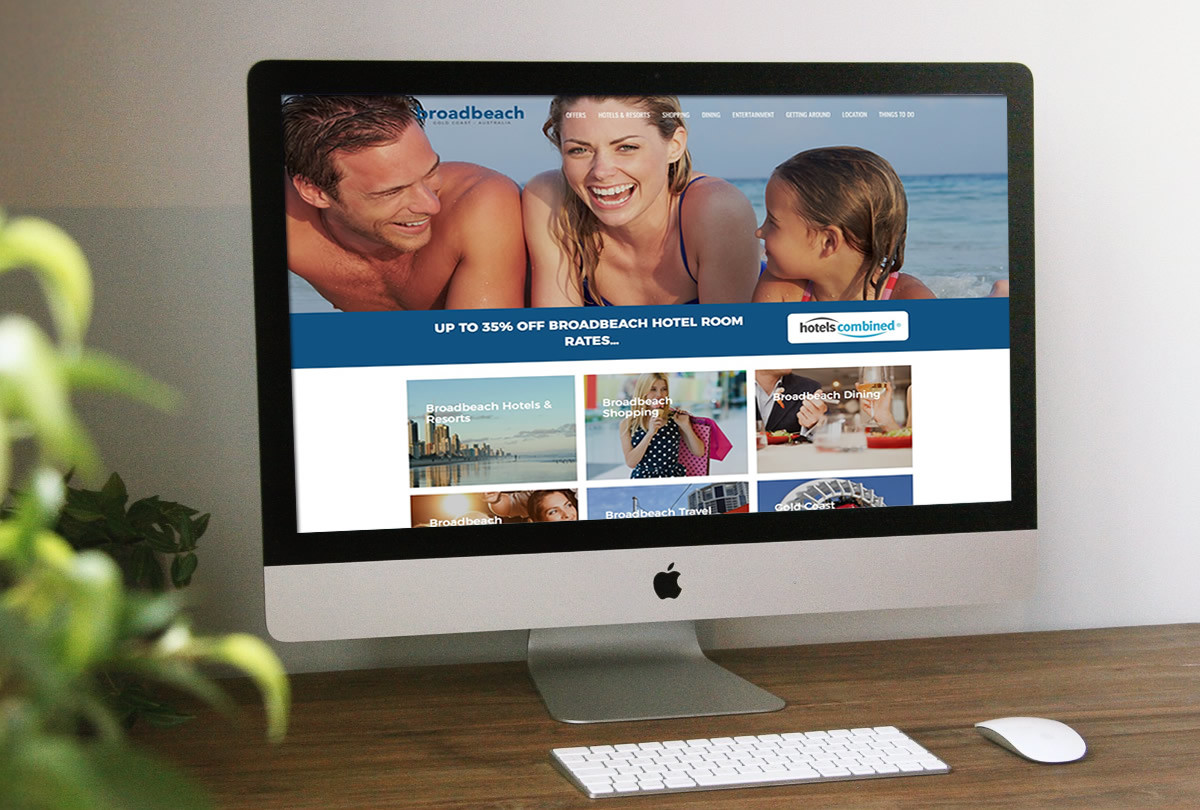 Broadbeach Tourism website design
