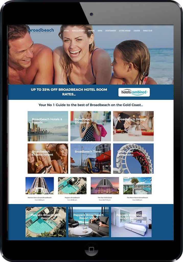 Visit Broadbeach Tourism website design