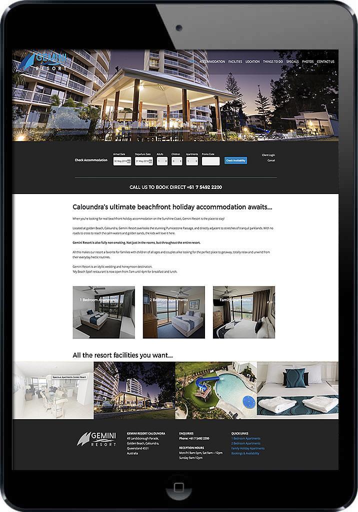 Caloundra tourism web design