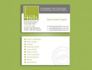 Waredrobe business card design and printing