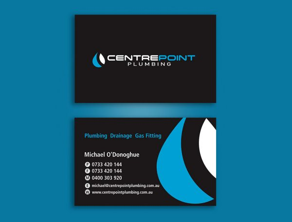 Plumbers business card design and printing