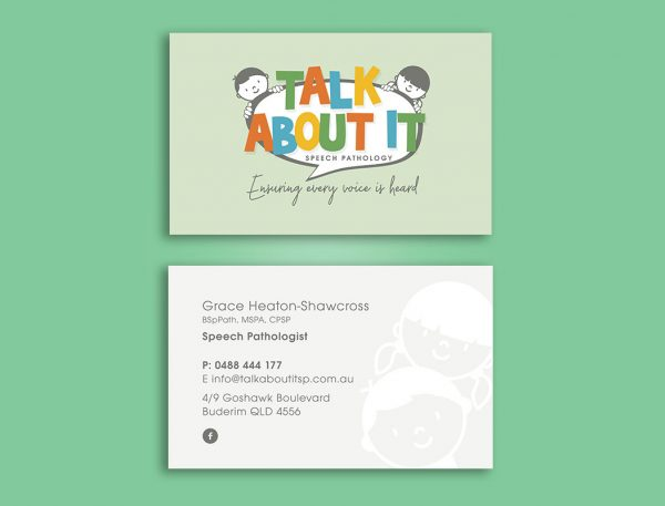 Speech Pathology Business Cards