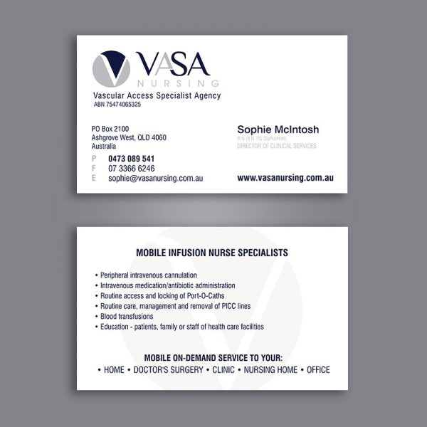 Vascular Specialist business cards design and printing
