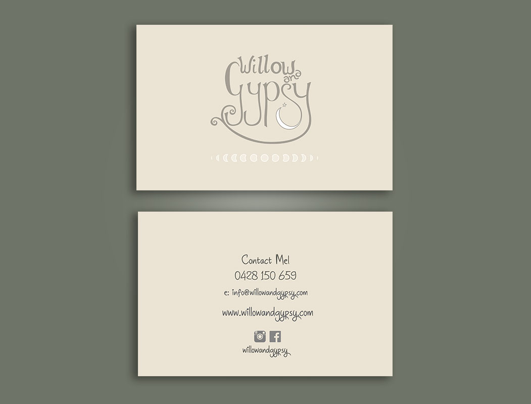 Willow & Gypsy business cards printing