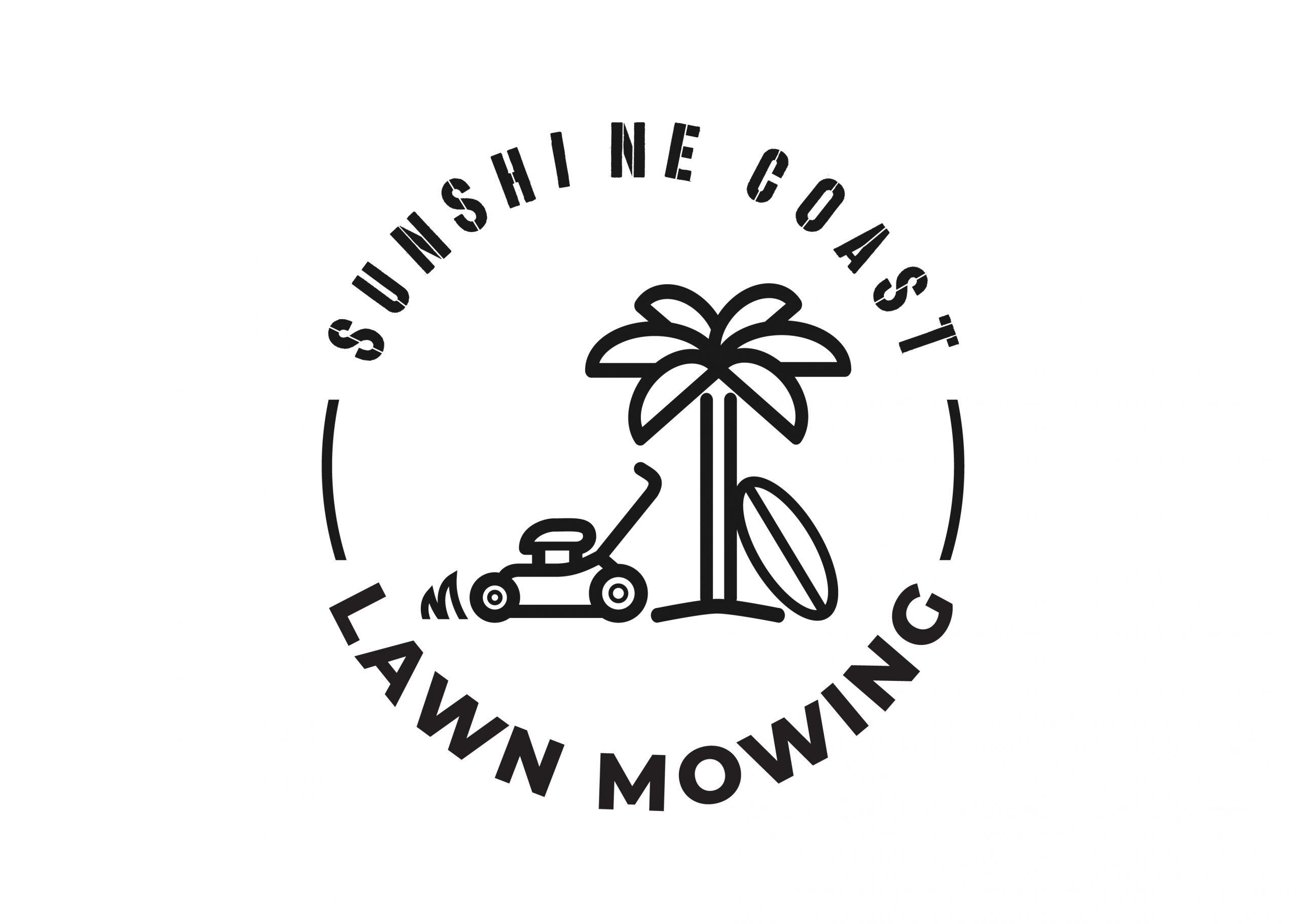 Bribie Island Lawn Mowing Services Logo Design