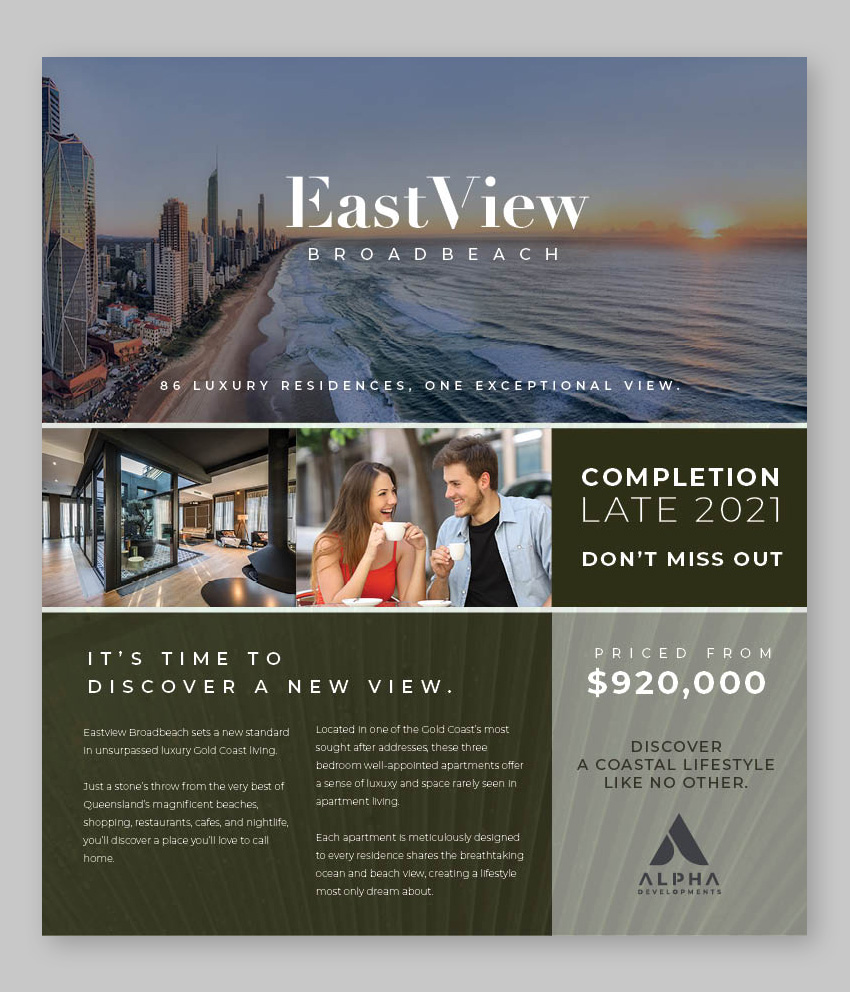 Broadbeach Real estate advertising and press ads