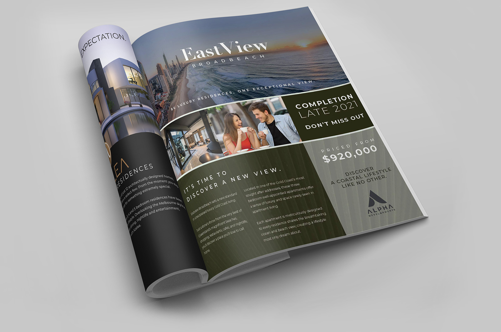 Gold Coast Real Estate Advertising design