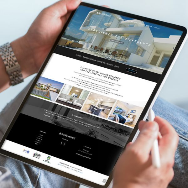 Sunshine Coast luxury homes web design