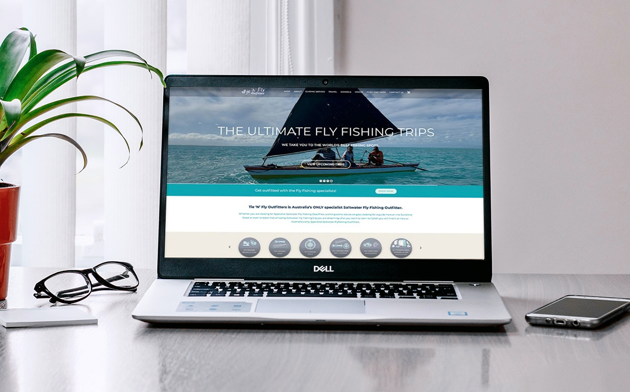 Sport Fishing and Fly Fishing website design