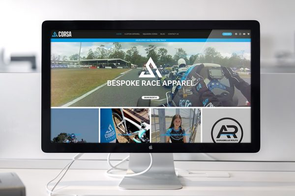 Go KArt racing Apparel Website Design